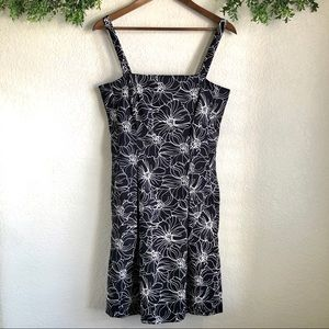 Dressbarn Floral Black and White dress